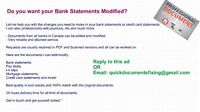 Income documents, Paystubs and Bank Documents. Do you need editi