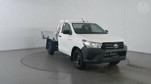 2016 Toyota Hilux TGN121R Workmate White 5 Speed Manual Cab Chassis Eagle Farm Brisbane North East Preview
