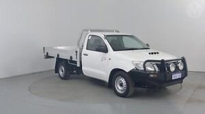 2012 Toyota Hilux KUN16R MY12 SR Glacier White 5 Speed Manual Cab Chassis Perth Airport Belmont Area Preview