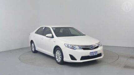 2012 Toyota Camry AVV50R Hybrid H White 1 Speed Continuous Variable Sedan Perth Airport Belmont Area Preview