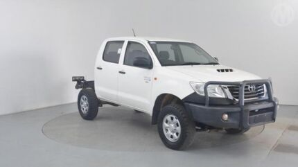 2012 Toyota Hilux KUN26R MY12 SR Double Cab Glacier White 5 Speed Manual Utility Perth Airport Belmont Area Preview