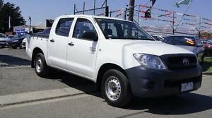 2010 Toyota Hilux TGN16R MY11 Upgrade Workmate White 4 Speed Automatic Cab Chassis Brooklyn Brimbank Area Preview