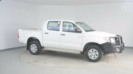 2009 Toyota Hilux KUN26R 09 Upgra SR (4x4) Glacier White 5 Speed Manual Wingfield Port Adelaide Area Preview