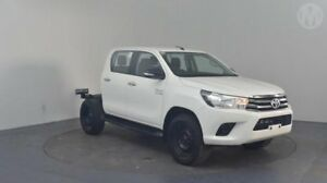 2016 Toyota Hilux GUN126R SR Double Cab Glacier White 6 Speed Sports Automatic Cab Chassis Perth Airport Belmont Area Preview