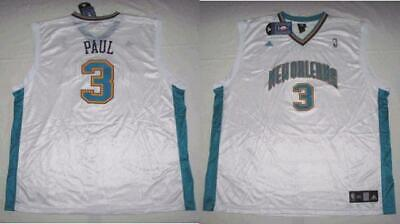 ADIDAS NEW ORLEANS HORNETS CHRIS PAUL WHITE HOME JERSEY 3XL