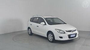 2010 Hyundai i30 FD MY10 SX cw Wagon Ceramic White 4 Speed Automatic Wagon Perth Airport Belmont Area Preview