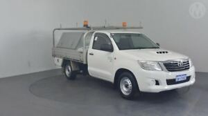 2014 Toyota Hilux KUN16R MY12 SR Glacier White 5 Speed Manual Cab Chassis Perth Airport Belmont Area Preview