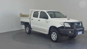 2010 Toyota Hilux KUN26R 09 Upgra SR (4x4) Glacier White 5 Speed Manual Dual Cab Chassis Perth Airport Belmont Area Preview