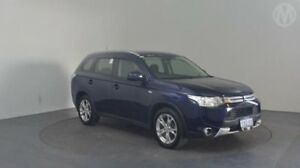 2014 Mitsubishi Outlander ZJ MY14 ES (4x4) Blue Continuous Variable Wagon Perth Airport Belmont Area Preview