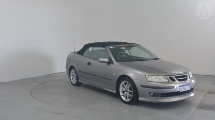 2004 Saab 9-3 MY04 Aero Dolphin Grey 5 Speed Auto Sensonic Convertible Perth Airport Belmont Area Preview