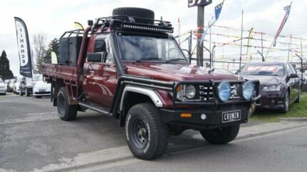2004 Toyota Landcruiser HDJ79R RV (4x4) Maroon 5 Speed Manual 4x4 Cab Chassis Brooklyn Brimbank Area Preview