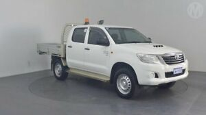 2014 Toyota Hilux KUN26R MY12 SR (4x4) Glacier White 5 Speed Manual Dual Cab Chassis Perth Airport Belmont Area Preview