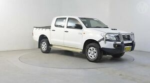 2012 Toyota Hilux KUN26R MY12 SR (4x4) White 4 Speed Automatic Utility Altona North Hobsons Bay Area Preview