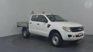 2012 Ford Ranger PX XL 2.2 HI-Rider (4x2) Cool White 6 Speed Manual Crew Cab Pickup Perth Airport Belmont Area Preview