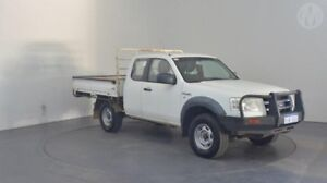 2007 Ford Ranger PJ XL (4x4) Cool White 5 Speed Manual Super Cab Chassis Perth Airport Belmont Area Preview