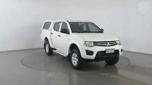 2014 Mitsubishi Triton MN MY14 Update GLX (4x4) White 5 Speed Manual 4x4 Eagle Farm Brisbane North East Preview