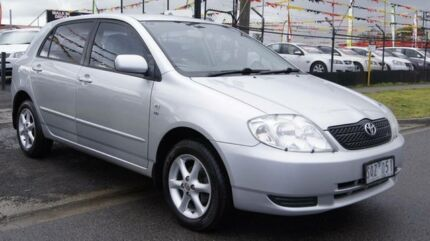 2004 Toyota Corolla ZZE122R Conquest Seca Silver 4 Speed Automatic Hatchback Brooklyn Brimbank Area Preview
