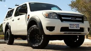 2009 Ford Ranger PK XL Crew Cab White 5 Speed Automatic Utility Glendalough Stirling Area Preview