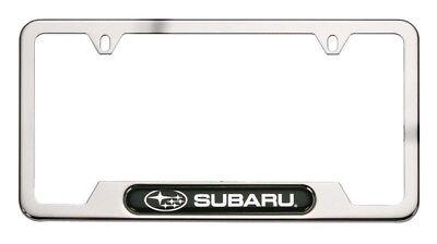 Tribeca Polished Steel - License Frame-Plate Frame - Polished Stainless Steel SUBARU OEM SOA342L127