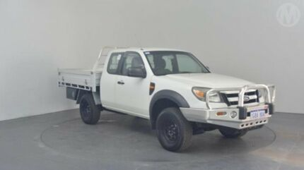 2010 Ford Ranger PK XL (4x4) Cool White 5 Speed Manual Super Cab Chassis Perth Airport Belmont Area Preview
