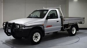 2002 Mazda Bravo B2500 DX Silver 5 Speed Manual Cab Chassis Invermay Launceston Area Preview