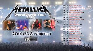 Metallica 2017 - avec Avenged Sevenfold, Volbeat - ZONE 1