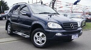 2002 Mercedes-Benz ML W163 320 (4x4) Blue 5 Speed Auto Tipshift Wagon Brooklyn Brimbank Area Preview