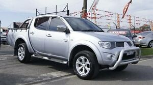 2010 Mitsubishi Triton MN MY10 GLX-R (4x4) Silver 5 Speed Automatic 4x4 Dual Cab Utility Brooklyn Brimbank Area Preview