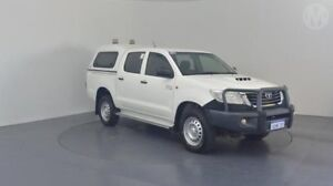 2014 Toyota Hilux KUN26R MY14 SR (4x4) Glacier White 5 Speed Automatic Dual Cab Pickup Perth Airport Belmont Area Preview