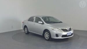 2012 Toyota Corolla ZRE152R MY11 Ascent Silver Pearl 4 Speed Automatic Sedan Perth Airport Belmont Area Preview