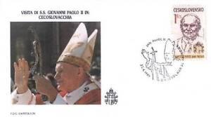 Czechoslovakia 1990 Jan Pawel II papież John Paul Pope Papa Papst (90/4) - Dabrowa Bialostocka, Polska - Czechoslovakia 1990 Jan Pawel II papież John Paul Pope Papa Papst (90/4) - Dabrowa Bialostocka, Polska