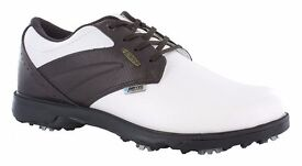 2 PAIRS GENTS SIZE 10 GOLF SHOES. HI TEC BRAND NEW IN ORIGINAL BOXES