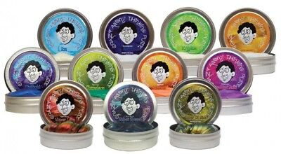 (3 x PUTTY ASSORTMENT Crazy Aarons Glow/Hypercolor/Heat Sensitive/Illusions Toy)