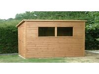10ftx7ft Garden Workshop in shiplap