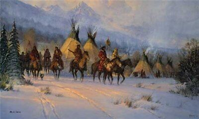 In the Land of the Blackfeet  -  Sign & Number Ltd. Ed Print - Gallery Stock