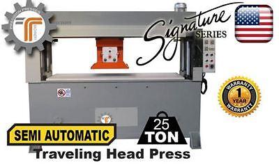 New Cjrtec 25 Ton Traveling Head Clicker Press Semi Automatic Hydraulic