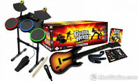 LOOKING FOR: Guitar Hero/Rockband games and controllers for 360