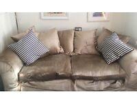 Free Large Two seater velvet sofa