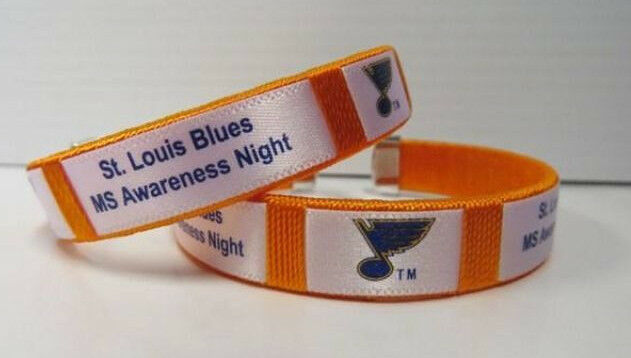 St. Louis Blues Ltd. National Multiple Sclerosis MS Bracelet 3/11 SGA TJ Oshie