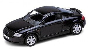 BLITZ VERSAND Audi TT schwarz / black Welly Modell Auto 1:34 NEU & OVP 1