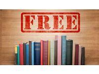 Volunteers Wanted GET FREE BOOKs