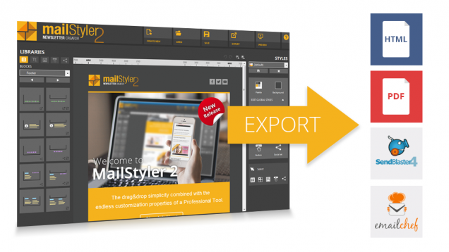 MailStyler Creator Pro v 2.5 Software - Create Professional Emails Templates