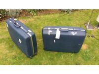 Vintage Samsonite hard shell suitcases x2