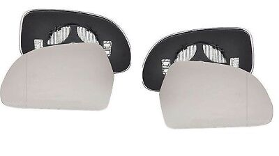 Pair of AUDI A3 8P 2010 2012 Wing side Heated Door Mirror Glass Backing Plate