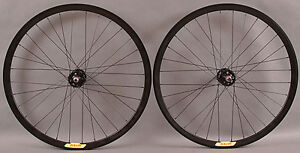 Velocity Deep V ALL BLACK Fixed Gear Track Bike Singlespeed Wheelset Wheels