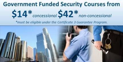 Certificate III Security Operations- GOVERNMENT FUNDED - Brisbane