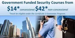 Government FUNDED Cert III in Security Operations Brisbane City Brisbane North West Preview