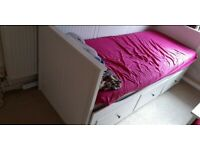 Ikea day bed hemnes with 2 matress