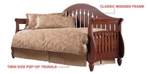 Fraser Walnut Daybed with pullout trundle