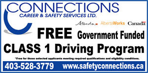 *FREE Class 1 Drivers License Program *Must meet eligibility req